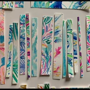 Original Lilly Pulitzer watercolor painting strips